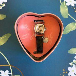 VTG Fossil I Love Lucy Leather Band Charm Watch